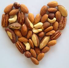 Organic almonds and organic cashew nuts